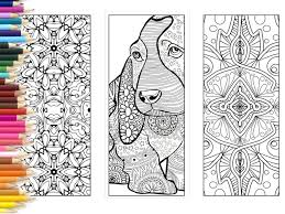 Bookmarks Coloring page adults printable bookmarks hand made