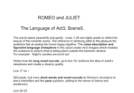 romeo and juliet the language of act scene gcse english document image preview