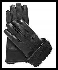 details about men s rabbit fur lined genuine soft black leather gloves 2xlarge mens accessory