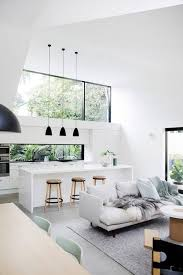 modern bright white living room kitchen | living rooms in 2019 ...