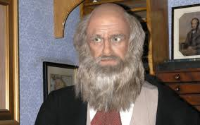 i believe in gd because of a charles darwin robot i believe in g0d because the animatronic charles darwin robot taught evolution to an amish family