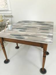 gray dining room table. Painted Dining Room Table Update Gray