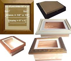 large d shadow box deep glass frame display case medals casts stylish
