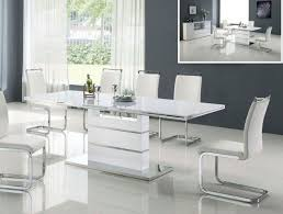 white modern dining room sets. Solid Wood Dining Table Sets Round With Leaf Modern And Chairs Furniture White Room D
