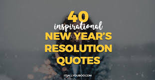 Resolution Quotes New Years