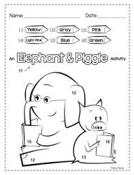 Elephant And Piggie Activities By Cheeky Cherubs Tpt