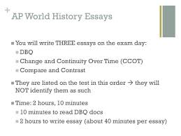 ppt change and continuity over time essay ccot powerpoint  ap world history essays
