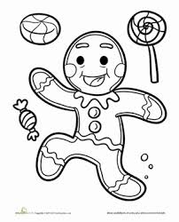 Gingerbread Man Coloring Page Favorite Places Spaces