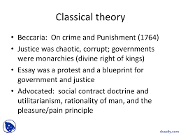 classical theory crime and human behaviour lecture slides this is only a preview