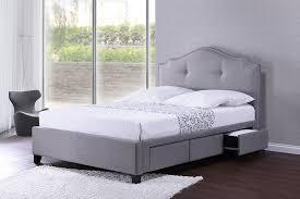 amazoncom baxton studio armeena linen modern storage bed with