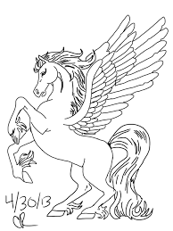 16 pegasus coloring pages for kids | Print Color Craft