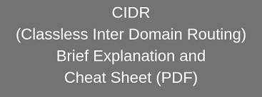 Ip Subnet Cidr Cheat Sheet Guide Pdf Download Here