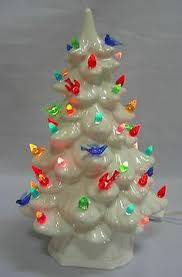 Vintage Holland Mold 10 Inch Ceramic Christmas Tree Flocked Holland Mold Christmas Tree
