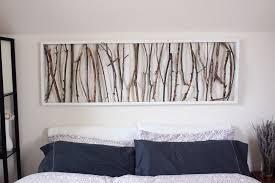 diy branch art headboard.JPG