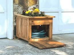garden hose storage ideas. Garden Hose Container Storage With Planter Rv Water Ideas E