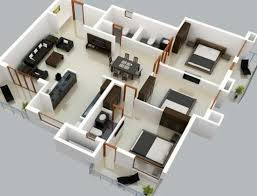 3d three bedroom house plan pictures design plans artdreamshome small philippines home and apartment bedrooms using