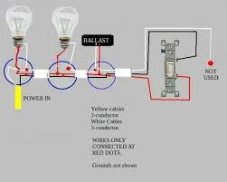 troubleshooting problem wiring power >two fluorescent ballasts lights swth 3 lights swatend jpg views 24687 size 24 3 kb