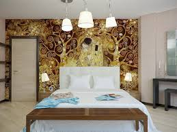 Home Interior Eciting Accent Wall Design Ideas Sponge Painting Wallpaper