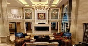 For Living Rooms With Fireplaces Villa Brick Walls Fireplace And Stairs Download 3d House