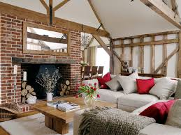 my fave pic so far dazzling drum lamp shades in living room farmhouse interior brick wallsred