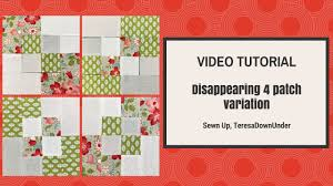 Video tutorial: 2-minute disappearing 4 patch quilt block ... & Video tutorial: 2-minute disappearing 4 patch quilt block variation Adamdwight.com