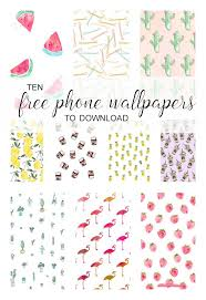 collage of cute iphone wallpapers to for free