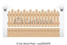 Illustration of wood fence isolated on white background vectors