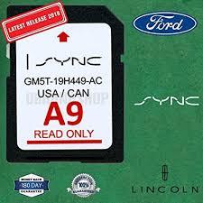 A9 Card Amazon Com Ford Lincoln A9 Sync Sd Card Navigation 2019 Us Canada