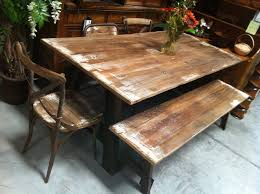 industrial wood furniture. metal and reclaimed wood furniture this is a dining table in fresh whitewash industrial r