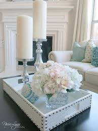 Decorating An Ottoman With Tray Furniture What To Put On A Coffee Table Decor Pinterest Glass 22
