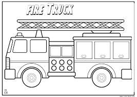 Printable Colouring Pages Fire Engine Printable Coloring Pages