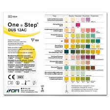 Urinalysis Reagent Strips Chart 12 Parameter Urine Test Strips Diabetes Uti Ph More 100 Test Pack Home Health Uk