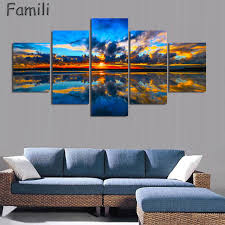 5pcs set wall art painting new zealand blue water lake mountain pictures prints on canvas on wall art prints nz with 5pcs set wall art painting new zealand blue water lake mountain