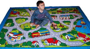 kids rug street map children area rug 2