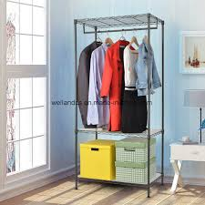 china sy shelving clothes wardrobe garment rack home closet hanger storage organizer china sy garment rack closet organizer