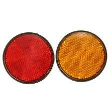 2 Round Rear Reflector Light Yellow Red Driving Safety Reflect Lamp Universal Motorcycle Motorbike Atv Pit Dirt Bike Scooter Us Walmart Canada