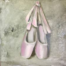 pink pointe shoes painting by marina
