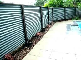 corrugated metal fence panel panels diy privacy wood a