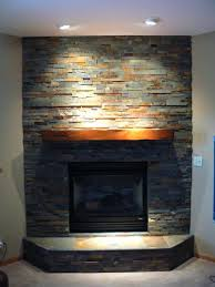 smlf stacked stone fireplace surround slate installing veneer tile faux