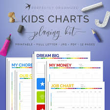 Chore Chart With Money Reward Kids Chore Charts Job Chart Reward Goal Money Tracker Bright Rainbow Editable Daily Weekly Monthly To Do Cleaning Checklist Printable Pdf