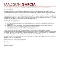 Reception Cover Letters 26 Receptionist Cover Letter Sample Receptionist Cover