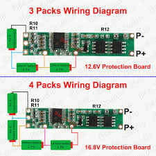 battery bms protection pcb board 3 4 4s Lipo Wiring Diagram Lithium Battery Wiring Diagram