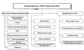 Дипломная работа Конфликты в организации ru Рис 2 1 Организационная структура офиса компании ОАО Связной НН