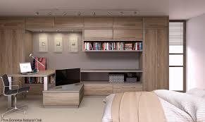 built in bedroom furniture designs. bevelled doors natural oak bedroom and study built in furniture designs