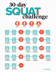 7 Day Squat Challenge Chart How Many Squats Should I Do Daily Routine And 30 Day Challenge