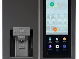 refrigerator amazon. lg\u0027s new touchscreen refrigerator gets an assist from amazon alexa | techhive