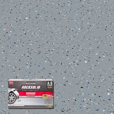 gray polycuramine 2 5 car garage floor kit