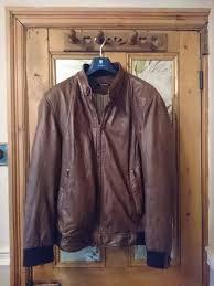 ashwood mens large vintage brown soft leather er jacket blouson style