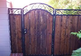 a client in laguna hills ca wanted a rustic wrought iron and wood gate to add privacy their homeu0027s backyard this spanish was exactly gates with62