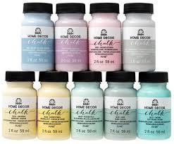 Folk Art Paint Chart Folkart Home Decor Chalk Paint By Plaid Home Decor